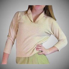 Light Yellow 1950's Vintage Lambswool Sweater