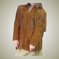 Fun 1970's Suede Fringe Western Look Jacket
