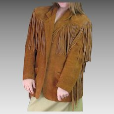 Fun 1970's Suede Fringe Western Look Jacket