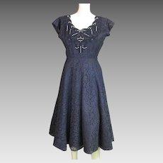 Beautiful Vintage '50's Cotton Lace Dress