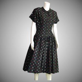 Pretty 1950's Taffeta Dress