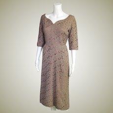 Fabulous Vintage Coco Cotton Lace & Satin Dress