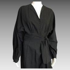 Vintage Dolmen Sleeve 1940's Dress