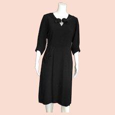 Black Fancy 1950's Day Dress