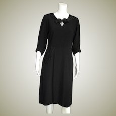 Black Fancy 1950's Day Dress