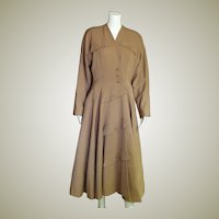 Breathtaking 1940's Wool Coat Dress