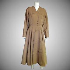 Breathtaking 1940's Wool Coat Dress