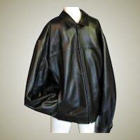 Handsome Men's Black Leather  Coat/Jacket