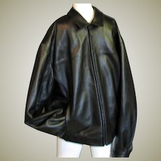 Handsome Men's Black Leather  Coat/Jacket