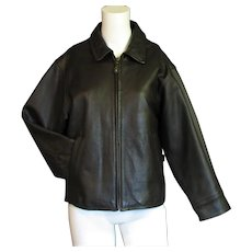 Women's Brown Eddie Bauer Leather Coat
