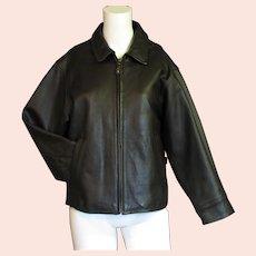 Women's Brown Eddie Bauer Leather Coat
