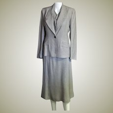 Brown & Tan Check Three Piece Suit