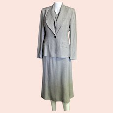 Labeled Three Piece 1950's Tiny Check Suit
