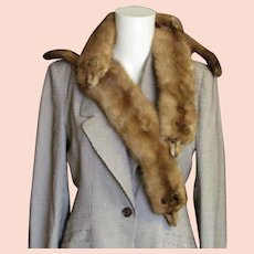Full Pelts 1940-'50's Mink Fur Piece