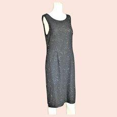 Black Sheath Beaded Party Dress