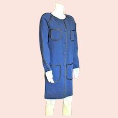 Fabulous Andrea  Deep Blue & Black Dress