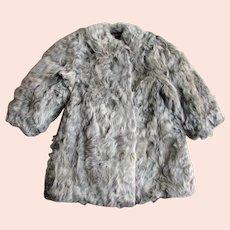 Children's Small Gray Fur 1940's Coat