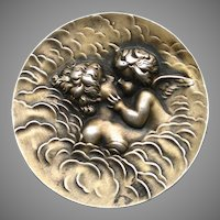 """An Art Nouveau Sterling Brooch """"Love's Dream"""" By Unger Brothers"""