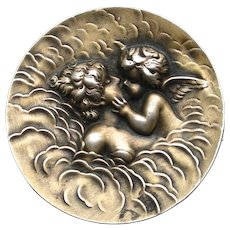 "An Art Nouveau Sterling Brooch ""Love's Dream"" By Unger Brothers"