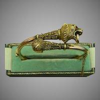 A Victorian GF Etruscan Lion Bracelet