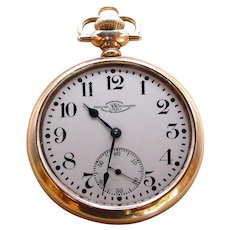 "Signed ""BALL"" 21J Waltham Railroad Pocket Watch"