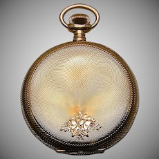 A 14K Pristine Engraved Man's Hunting Case Pocket Watch 16 Size Illinois