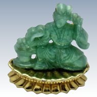 BOUCHER  Japanese Figural Geisha  Lucite Brooch and Pendant