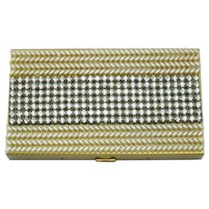 WIESNER of MIAMI Rhinestone Pearl Carryall  Compact Lipstick Comb UNUSED