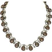 Rare Vintage  KRAMER of NY 1950s Crystal Rhinestone Mesh Choker Necklace