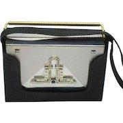 VOLUPTE Rhinestone Deco Style Carryall Compact Dance Purse - Satin Case