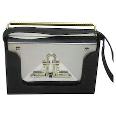 VOLUPTE Rhinestone Deco Style Carryall Compact Dance Purse - Satin Case
