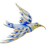 COROCRAFT STERLING 1940s Coro Craft Bird of Paradise Pin Brooch