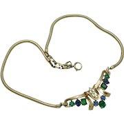 Vintage CROWN TRIFARI Jeweled Symphony Pat Pend Necklace