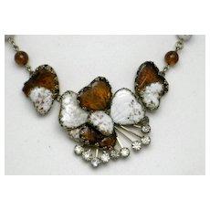 HOBE Vintage Mayorka Petals Glass Choker Necklace