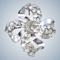 CROWN TRIFARI  'Jeweled Symphony' Rhinestone Bow Knot Brooch and Pendant