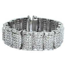 Art Deco Style High End Crystal Rhinestone Bracelet