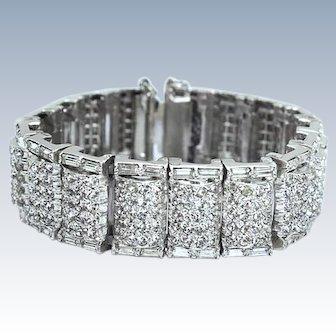 Art Deco Style High End Crystal Rhinestone Bracelet