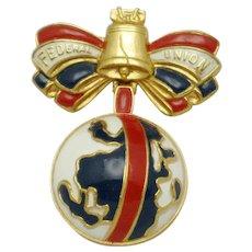 ACCESSOCRAFT Patriotic Brooch Federal Union WWII Streit