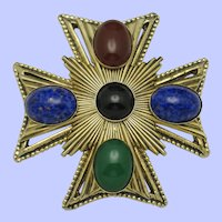 ORIGINAL BY ROBERT Large Maltese Cross Brooch Pin