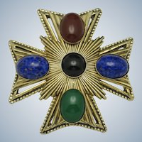 ORIGINAL BY ROBERT Large Maltese Cross Brooch Pin