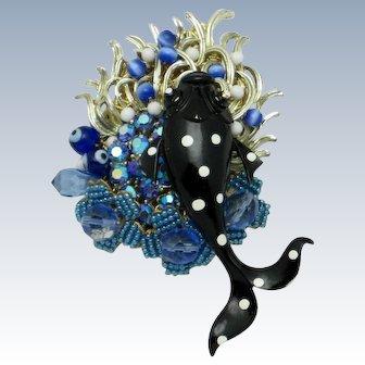 STANLEY HAGLER N.Y.C. Under the Sea Figural Fish Brooch Pin