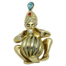 1945 CORO Pegasus Ali Baba Fortune Teller Figural Brooch VERY RARE