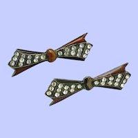 Art Deco PIERRE BEX France Bow Brooch Pins