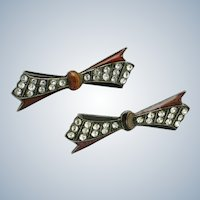Art Deco PIERRE BEX France Bow Brooch Pins