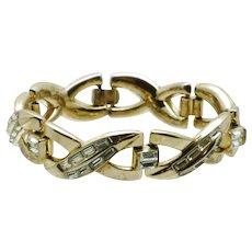 TRIFARI 1953 Pat Pend Trifanium Rhinestone Baguette Bracelet