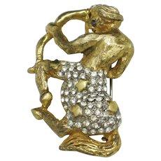 KJL 1960s Kenneth Jay Lane Mythological Fantasy Pin Brooch