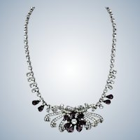 Gorgeous SCHOFFEL AUSTRIA Amethyst Choker Necklace