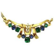 CROWN TRIFARI Jeweled Symphony Pat Pend Necklace Earrings SET