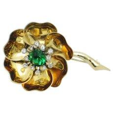 MB BOUCHER Pat Pend Day Night Flower Brooch Pin