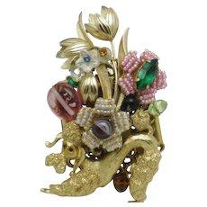 STANLEY HAGLER Figural Poodle Brooch Pin